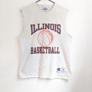 Vintage 90s Champion Grey Illinois Basketball Tank